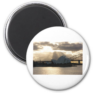 Sydney-Opernhaus Runder Magnet 5,1 Cm