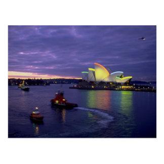 Sydney-Opernhaus und -hafen an Dämmerung, neues Postkarte