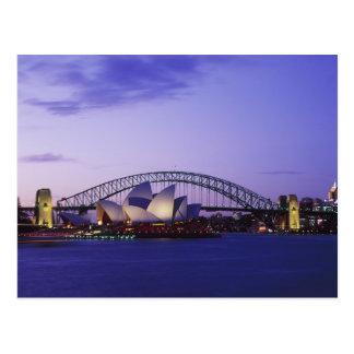 Sydney-Opernhaus und Hafen, neuer Süden 2 Postkarte