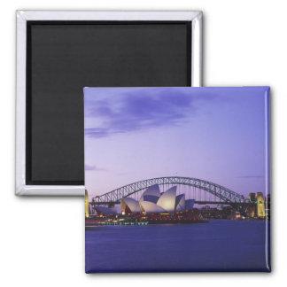 Sydney-Opernhaus und Hafen, neuer Süden 2 Quadratischer Magnet