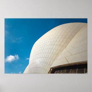 Sydney-Opernhausdachmuster Poster