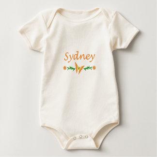 Sydney (orange Schmetterling) Baby Strampler