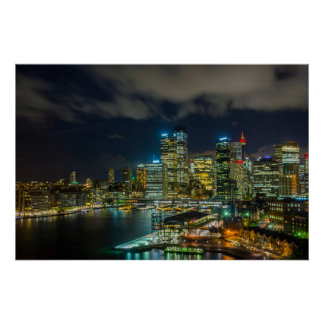 Sydney-Skyline Poster