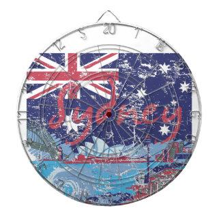 Sydney Vintages Australien Dartscheibe