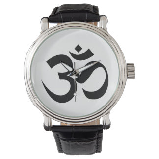 Symbol-Beschwörungsformel Hindu Inder Dharmic Armbanduhr