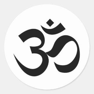 Symbol-Beschwörungsformel Hindu Inder Dharmic Runder Aufkleber