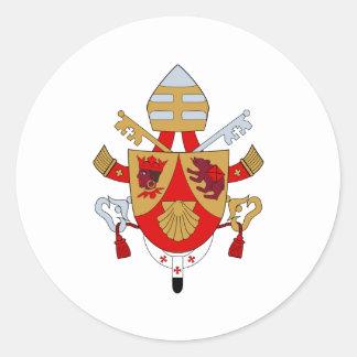 Symbol BXVI Papst-Coat Emblem Heraldry Official Runder Sticker