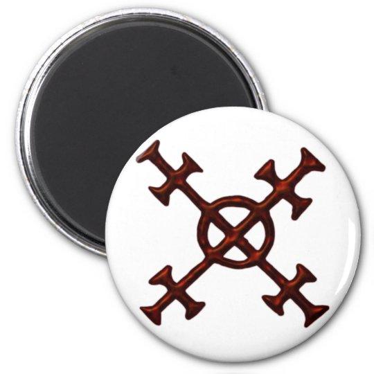 Symbol Chaos Runder Magnet 5,1 Cm