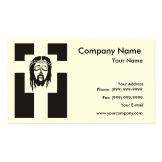 Symbol der Jesus Christus-Kreuzigung Visitenkarten