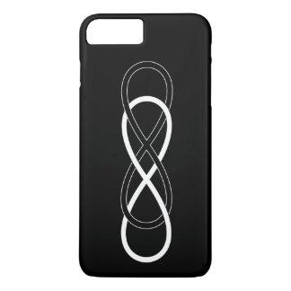 Symbol-doppelte Unendlichkeit - Schwarzes u. Weiß iPhone 8 Plus/7 Plus Hülle