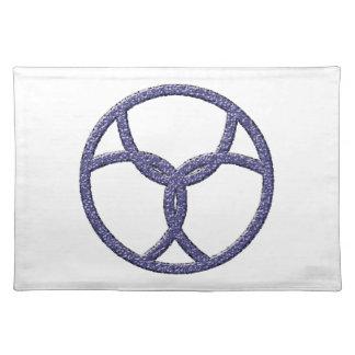 Symbol dreifach threefold stofftischset