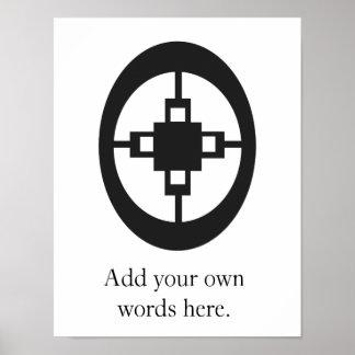 Symbol Freifrau-Freifrau   für Intelligenz und Poster