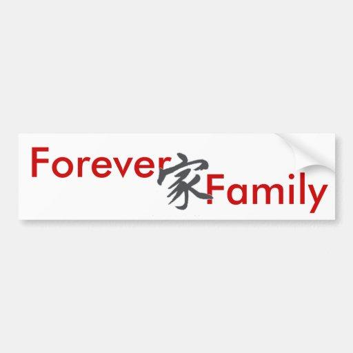 symbol f r immer familie autoaufkleber zazzle. Black Bedroom Furniture Sets. Home Design Ideas