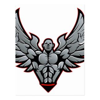 Symbol für Turnhalle und Fitness Postkarte