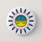 Symbol Indianer Runder Button 5,7 Cm