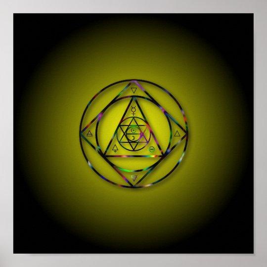 Symbol Kabbala Poster