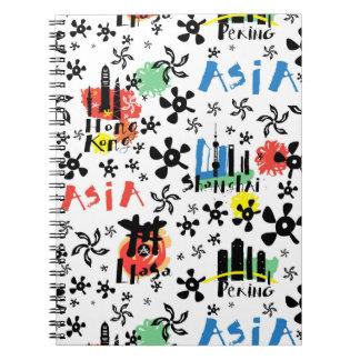 Symbol-Muster Asiens | Notizblock