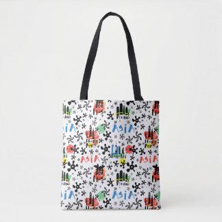 Symbol-Muster Asiens   Tasche