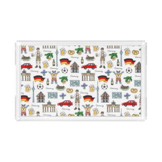 Symbol-Muster Deutschlands | Acryl Tablett