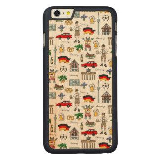 Symbol-Muster Deutschlands | Carved® Maple iPhone 6 Plus Hülle