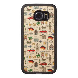 Symbol-Muster Deutschlands | Handyhülle Aus Holz