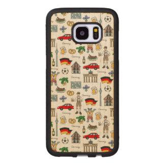 Symbol-Muster Deutschlands | Samsung Galaxy S7 Edge Holzhülle