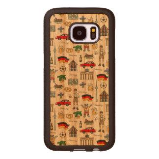 Symbol-Muster Deutschlands | Samsung Galaxy S7 Holzhülle