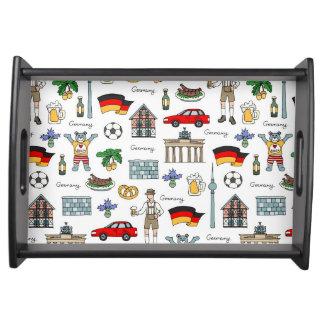 Symbol-Muster Deutschlands | Tablett