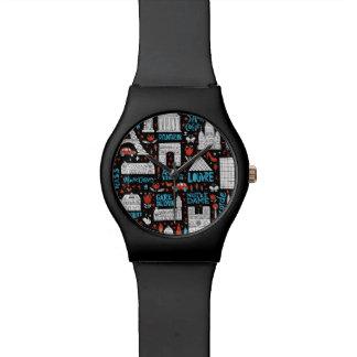 Symbol-Muster Frankreichs   Armbanduhr
