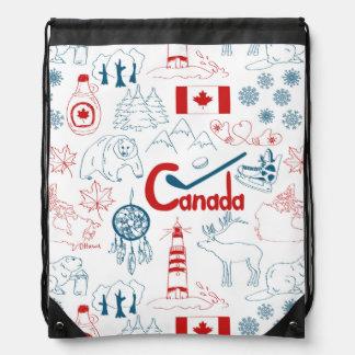 Symbol-Muster Kanadas   Turnbeutel