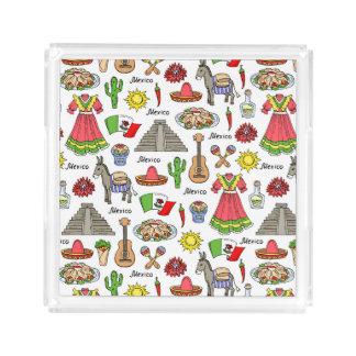 Symbol-Muster Mexikos | Acryl Tablett