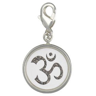 Symbol OM/OM - Silber + Ihr Hintergrund Foto Anhänger