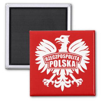 "Symbol Polens ""Rzeczpospolita Polska"" Eagle Quadratischer Magnet"