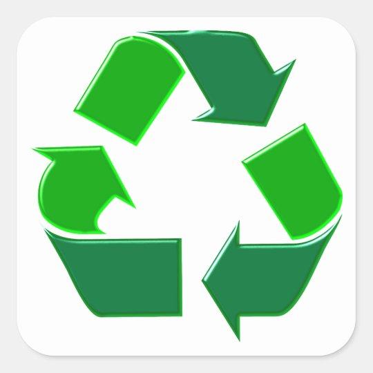 Symbol recycling quadratischer aufkleber