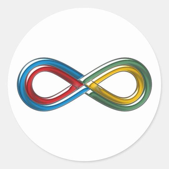 Symbol Unendlich infinit infinity Runder Aufkleber