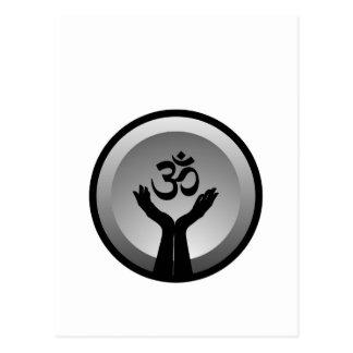 Symbol von Hinduismus-OM-Symbol Postkarte