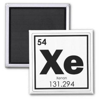 Symbolchemie-Formel-GE des chemischen Elements des Quadratischer Magnet