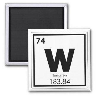 Symbolchemieformel des Wolframchemischen Elements Quadratischer Magnet