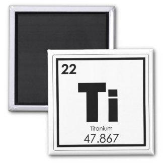 Symbolchemietitanformel des chemischen Elements Quadratischer Magnet