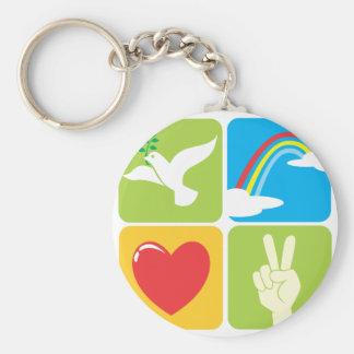 Symbole der Glauben-Hoffnungs-Liebe und des Friede