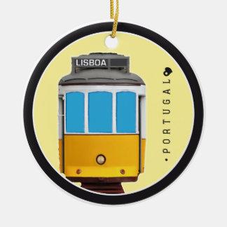 Symbole von Portugal- - Lissabon-Straßenbahn Keramik Ornament