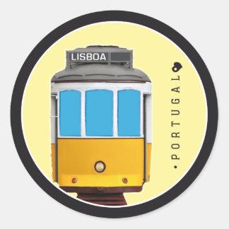 Symbole von Portugal- - Lissabon-Straßenbahn Runder Aufkleber
