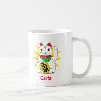 Symbolische Chinese Maneki Neko viel Kaffeetasse