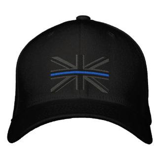 Symbolische dünne Blue Line auf BRITISCHER Flagge Bestickte Baseballmützen