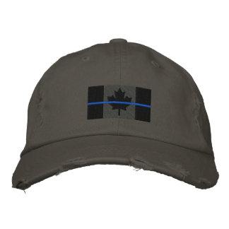 Symbolische dünne Blue Line auf kanadischer Flagge Bestickte Baseballkappe