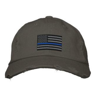Symbolische dünne Blue Line auf US kennzeichnen Baseballcap