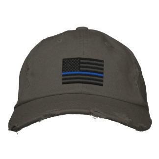 Symbolische dünne Blue Line auf US kennzeichnen Bestickte Kappe