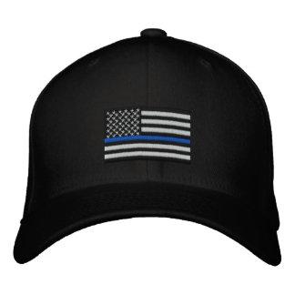 Symbolische dünne Blue Line auf US kennzeichnen Bestickte Kappen