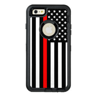 Symbolische Flagge-dünne rote Linie an OtterBox iPhone 6/6s Plus Hülle