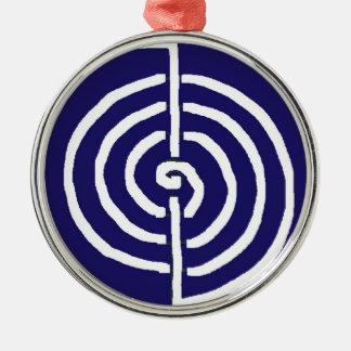 Symbolische Kunst: Reiki Chokurai Rundes Silberfarbenes Ornament